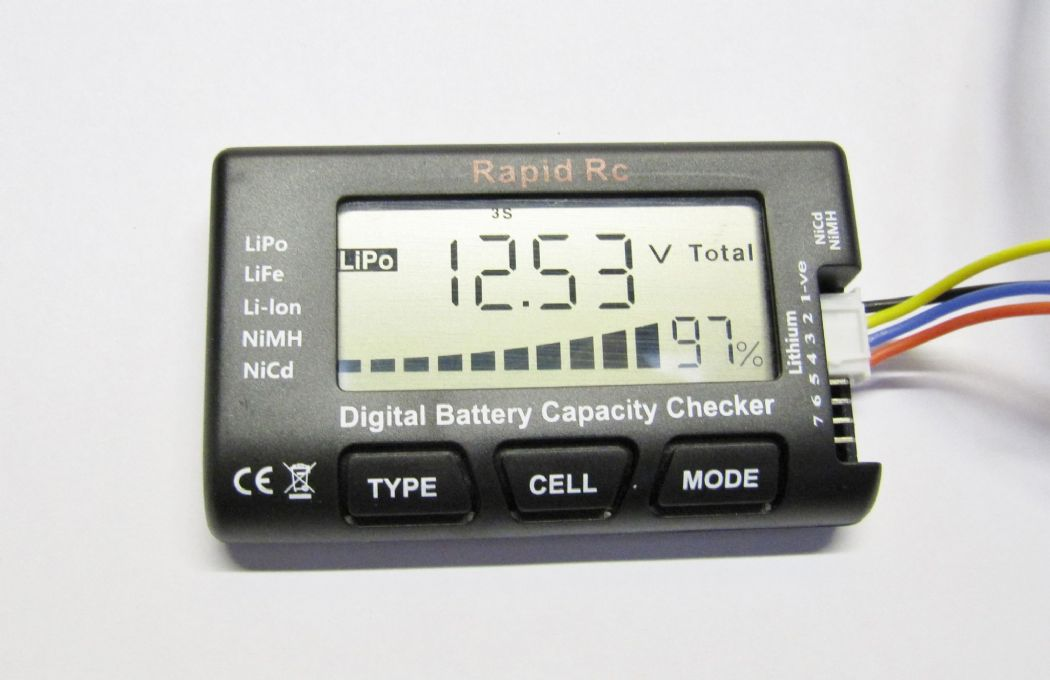 Cellmeter-8 Lipo/Life/Li-ion/Nimh/Nicd Digital Battery Checker
